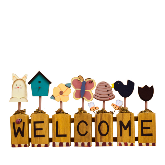 Wood Welcome Signs Smart Home Shop Restaurant Plaques Garden ...