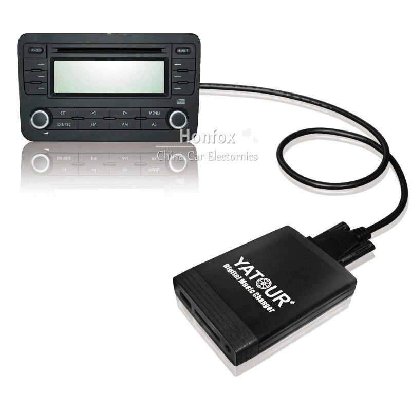 ФОТО Yatour Digital music changer YT-M06 For Ford Fiesta 1999-2002 OEM Sanyo radio Car USB MP3 SD AUX adapter