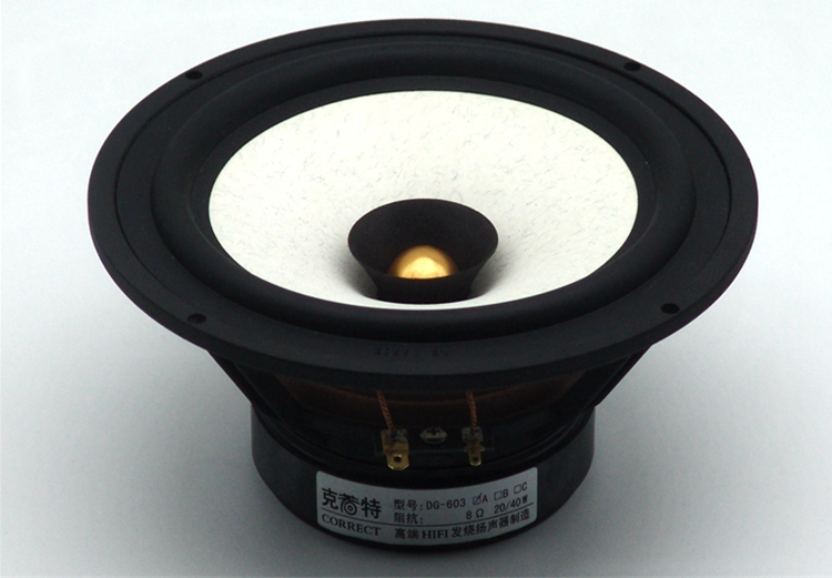 1PCS 2019 New Aucharm DG-603 6.5'' Full Frequency Speaker Driver Casting Aluminum Frame IIR Rubber Surrouding 4/8ohm Max 40W