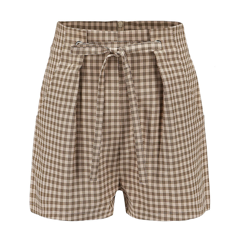 Forefair Women Shorts Plaid Summer (3)