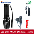 2017 Высокий Мощный Фары CREE XM-L T6 LED Алюминиевый Фонарик Масштабируемые свет Факела С 18650 Аккумуляторная Батарея зарядное устройство