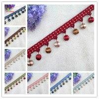 5 Yards Lace Tassel Fringe Cotton Ethnic 4.5cm Lace Curtain Trim Ribbon Sewing Latin Dress Stage DIY Garment Decorative