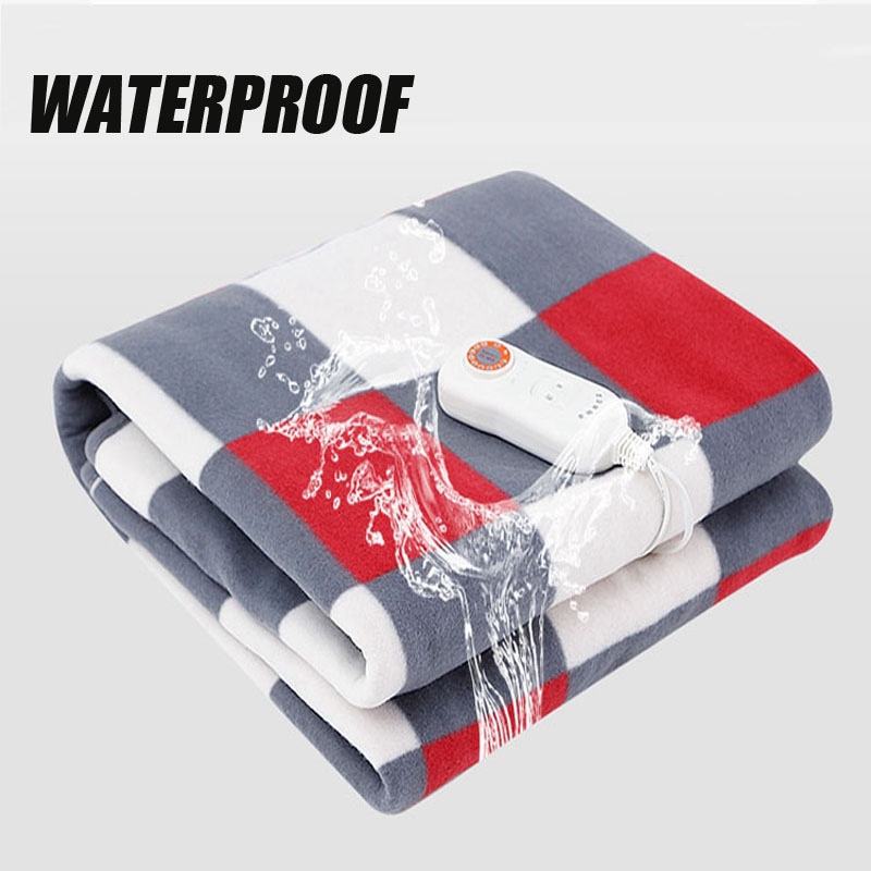 Waterproof Fabric 220V Electric Blanket 9Gear Adjustable Setting Heater Soft Manta Electrica Heated Blanket Electric Heating