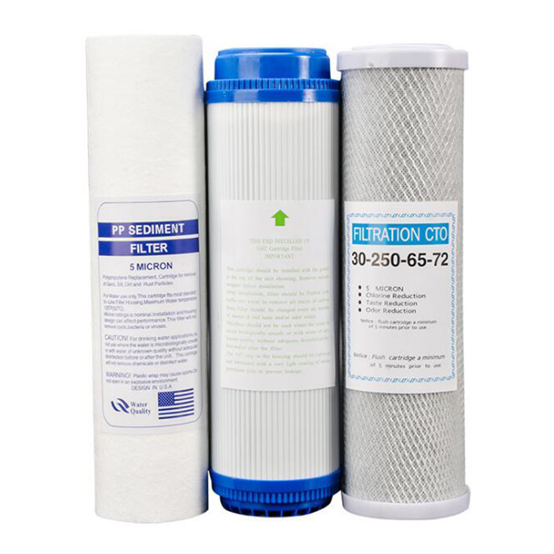 Water Systems Replacement Pre-FILTER SET 3 Stage Whole House Water Filter PP Sediment Carbon Filter Cartridge Reverse Osmosis whole house water filter replacement cartridge granular coconut carbon filter 4 5 x 10 inch