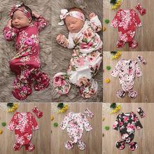 Focusnorm Младенческая пеленка с цветами основа одеяло для сна сумка повязка на голову наряд