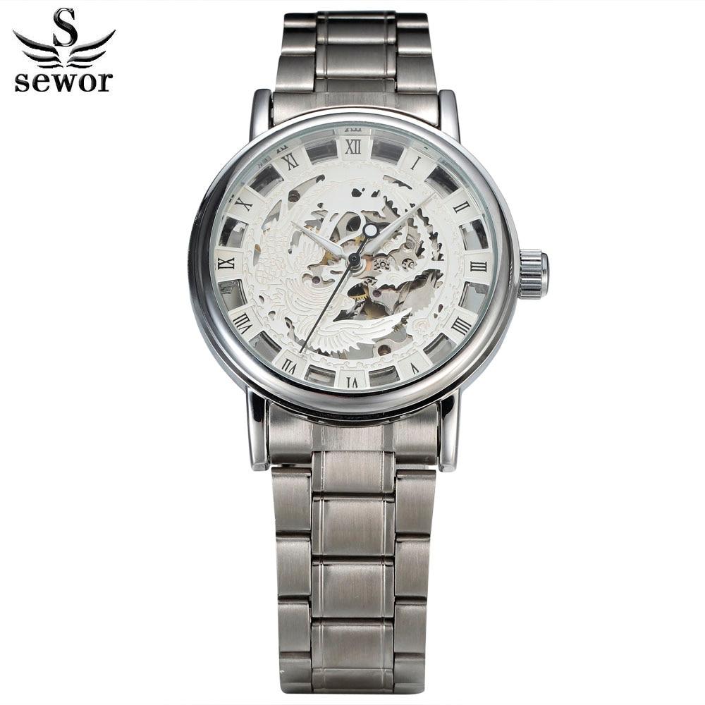 2016 Brand nou de marcă Phoenix Schelet Hollow moda mecanic Man ceas - Ceasuri bărbați