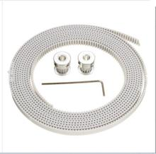 DuoWeiSi 3D Printer Parts 2Pcs GT2 Pulley 16 Teeth 2M White GT2 Timing Belt Kit For 3D Printer RepRap Prusa