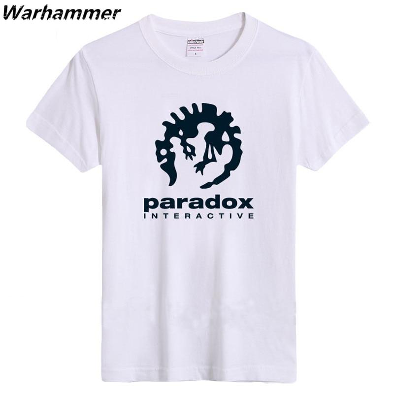 Paradox Interaktif Erkek Moda Spor T-shirt Kısa Kollu Oyun Oyuncu - Erkek Giyim - Fotoğraf 1