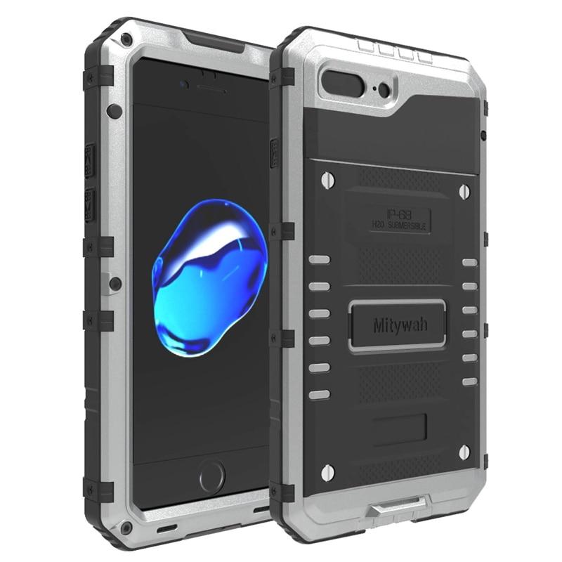 imágenes para 100% Impermeable de Aluminio del Metal a prueba de Golpes Armor Caso Duro Para el iphone 5 5S 6 6 s 7 7 Más Casos de la Cubierta Bajo El Agua 3 M Buceo