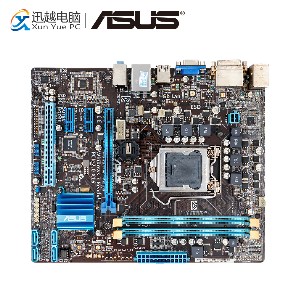Asus P8H61-M PLUS Desktop Motherboard H61 Socket LGA 1155 i3 i5 i7 DDR3 16G uATX On Sale asus p8h61 m plus v2 desktop motherboard h61 socket lga 1155 i3 i5 i7 ddr3 16g uatx on sale