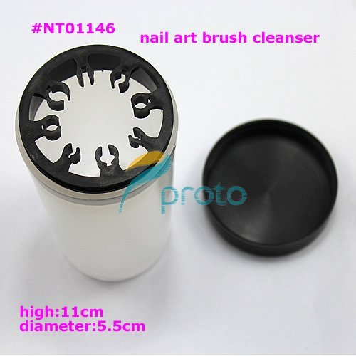 free shipping-Pro Nail Art Brushes UV Pen Holder Cleanser Cup SKU:F0017X