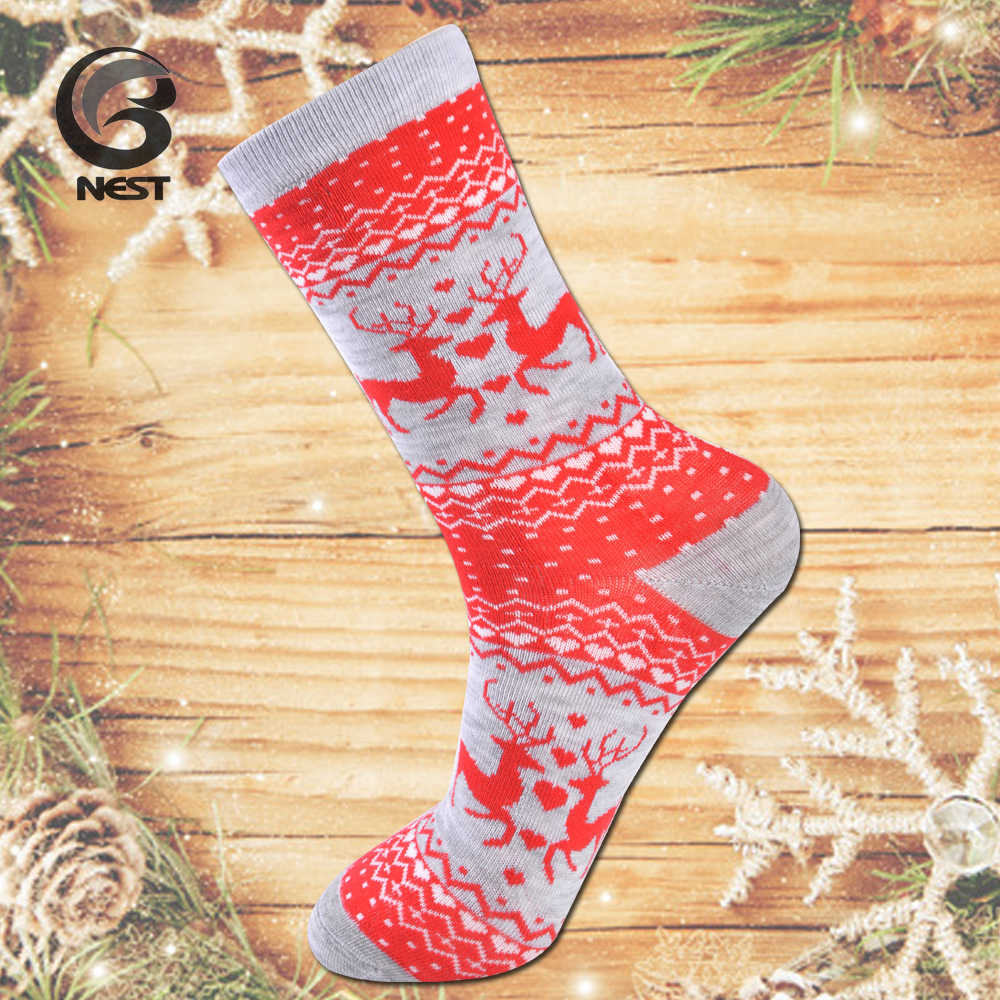 Nest Ladies Christmas Socks Colorful Christmas Socks Lady Decorate Your Socks For Christmas 5 Pairs Christmas Women