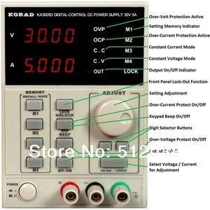 Регулируемый прецизионный блок питания KORAD KA3005D, 30 В, 5 А, постоянный ток, 220 В