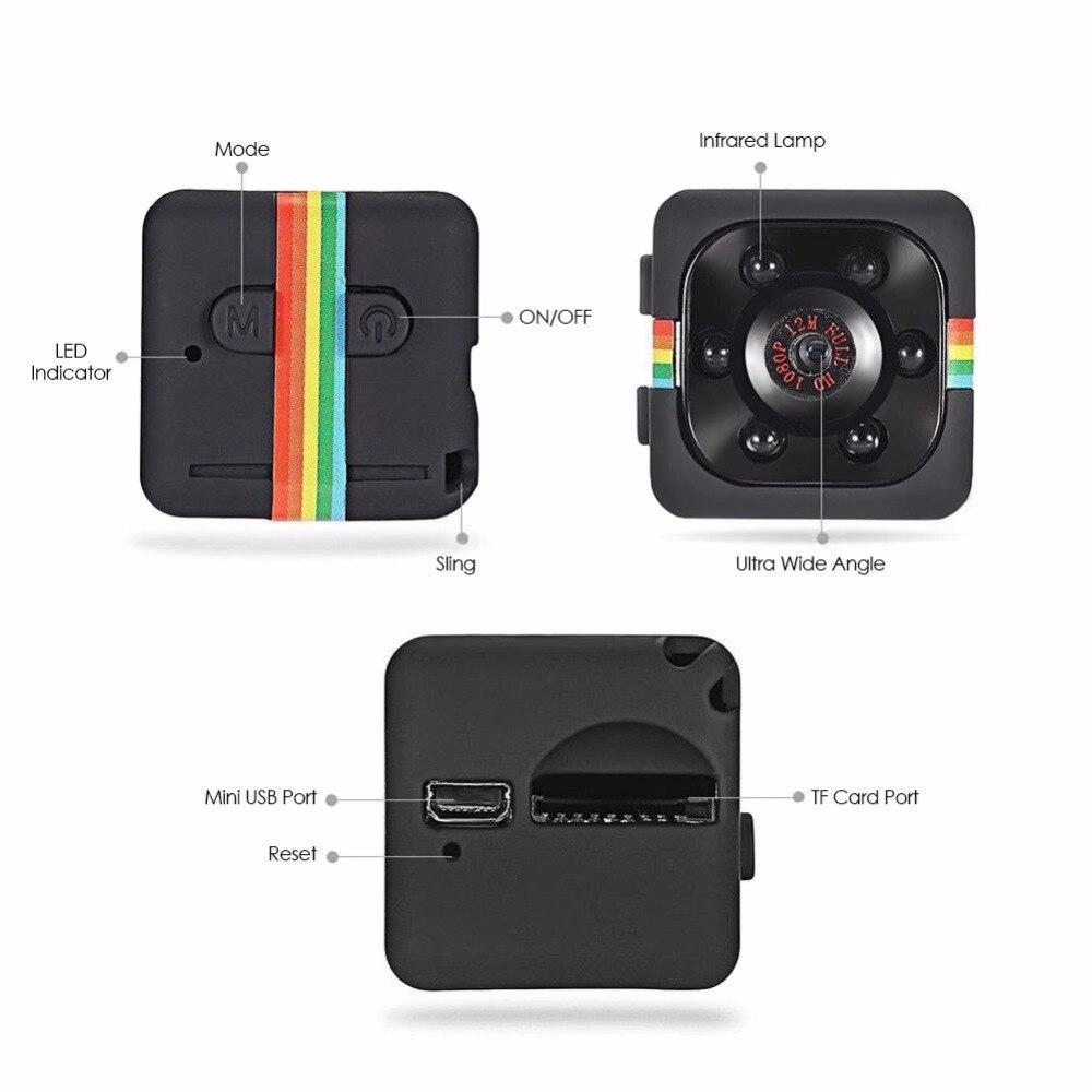 SQ11 Mini Camera HD 1080P Night Vision Camcorder Portable Car DVR Infrared Video Recorder Sport Digital Camera DVR DV Motion Rec