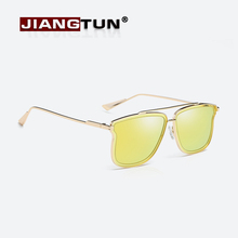 JIANGTUN Fashion Women Sunglasses Polarized Butterfly Shades Luxury Brand Designer Sun glasses Integrated Eyewear Candy Color