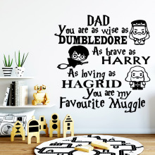 Hot english sentences Nursery Wall Art Decals For Kids Rooms Diy Home Decoration Sticker Bedroom Mural naklejki