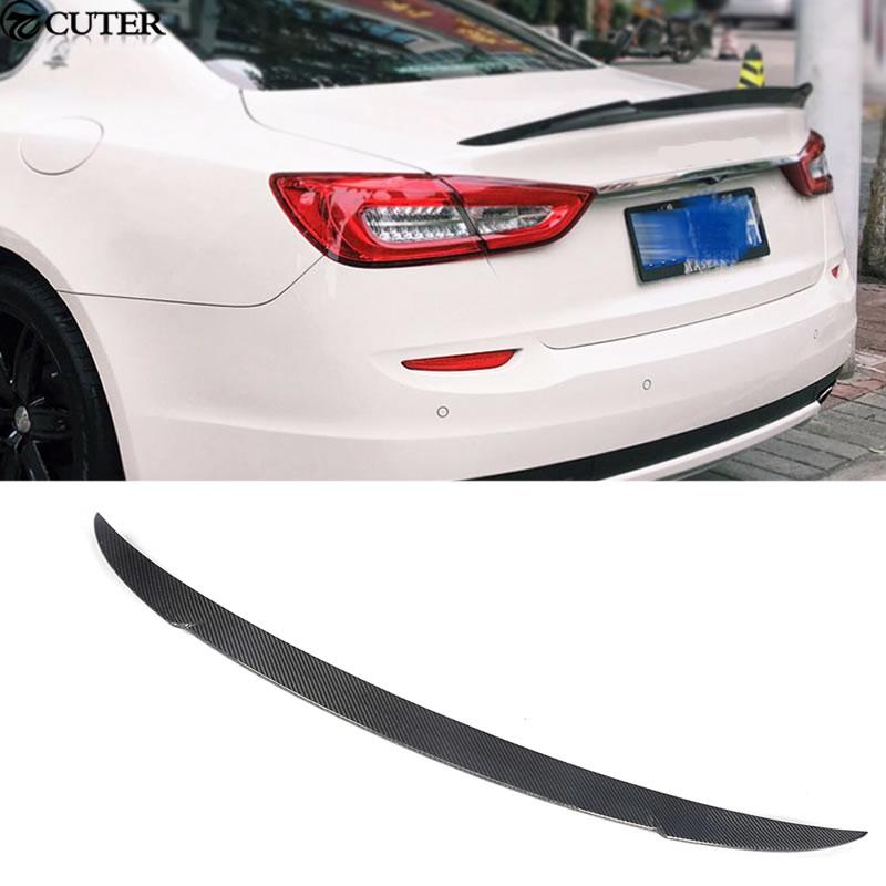 Ghibli Car Styling Carbon Fiber Rear Spoiler wing for Maserati Ghibli SQ4 14-16