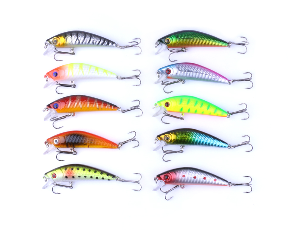 100pcs Floating Fishing Minnow Lures 10 Colors 7cm 8 1g Plastic Fly Pesca Wobbler Hard Bait