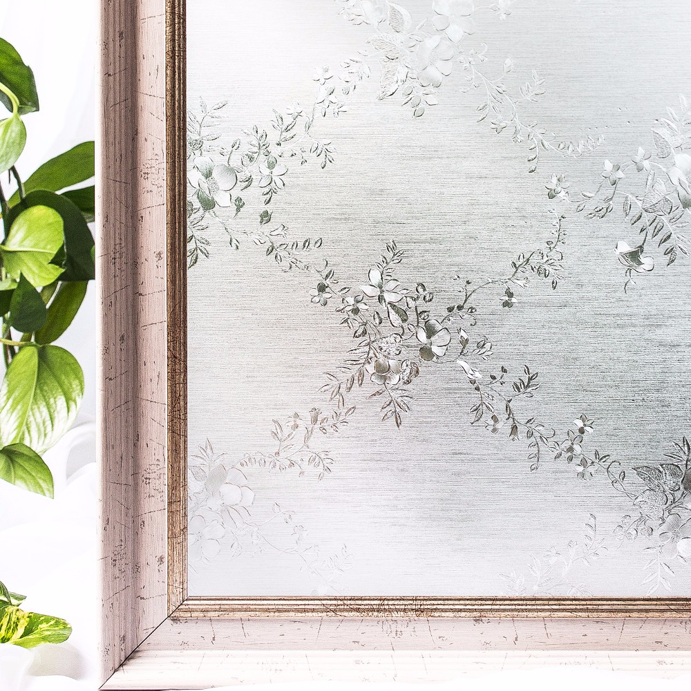 Home Decor Conscientious Cottoncolors Flower Decoration Window Tint Film Home Bedroom Pvc Glass Sticker No-glue 3d Static Privacy Size 60 X 200cm 2019 New Fashion Style Online Decorative Films