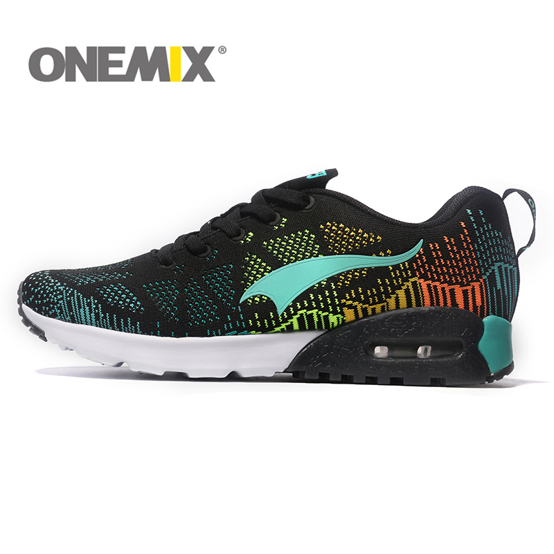 bc50fc06939 ONEMIX Shock Absorption Running Shoes Cool Light Breathable Sport Shoes For Men  Sneakers for Outdoor Jogging