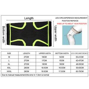 Image 5 - 1PCS Fitness Laufen Radfahren Knie Unterstützung Hosenträger Elastischen Nylon Sport Compression Knie Pad Hülse für Basketball Volleyball