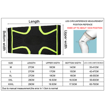 1PCS Fitness Running Cycling Knee Support Braces Elastic Nylon Sport Compression Knee Pad Sleeve for Basketball Volleyball 10