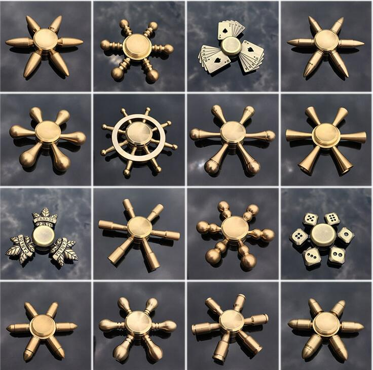 Fidget Spinner Pure Copper High Speed Hand Spinner Adult / Kids DIY Assembly Funny Toy Finger Rotation Time Long Anti Stress Toy