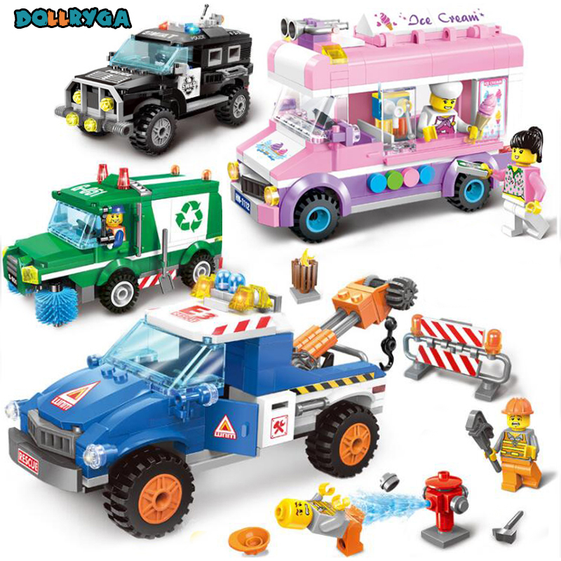 DIY Building Block 810PCS Building Blocks Early Learning Assembly City Traffic Car DIY Toys For Child Brithday Gifts 4sets/lot DIY Building Block 810PCS Building Blocks Early Learning Assembly City Traffic Car DIY Toys For Child Brithday Gifts 4sets/lot