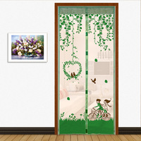WHISM Summer Lovely Durable Curtains Anti Mosquito Magnetic Insect Door Tulle Curtain Doors Screen Summer Style