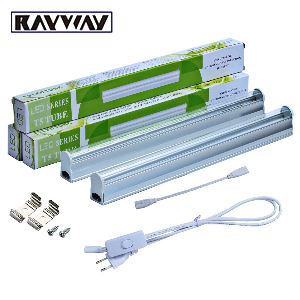 rayway 2pcs set t5 5w led grow light tube 660nm red 455nm blue 2835smd switch led growing bar. Black Bedroom Furniture Sets. Home Design Ideas