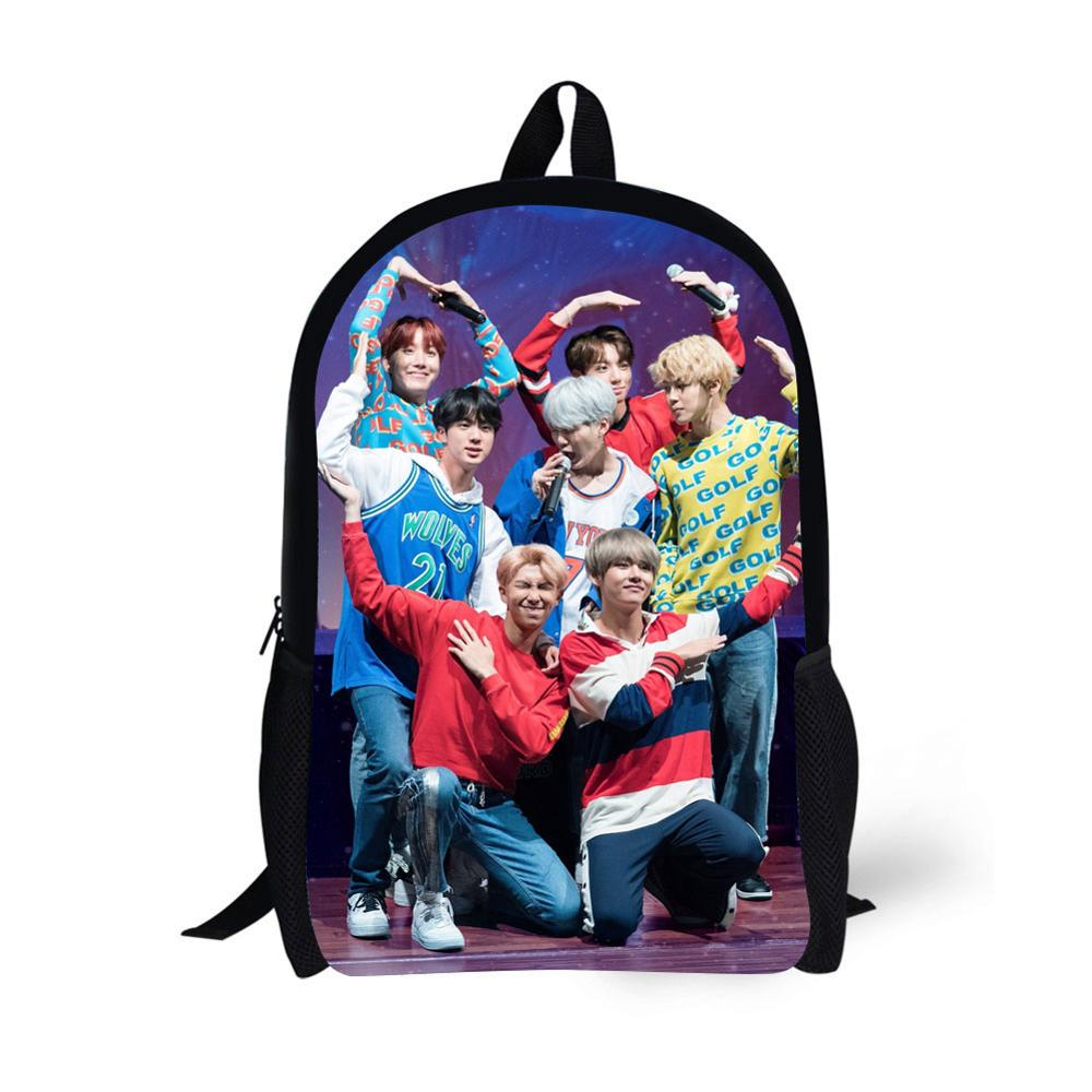 Kpop Backpacks For Women Super Korean Style Fashion Teenage Girls High School Bag Mochila 17 Inch Book Bag