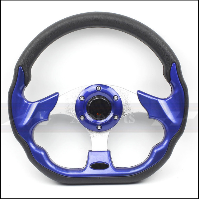 car Sport steering wheel racing type High quality universal 13 inches 320MM Aluminum PU 5 color yellow black red blue silver MO