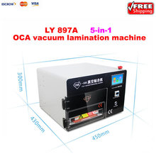 LY 897A touch screen vacuum laminating machine with Built-in Air Compressor,bubble remover for 9 inch screen