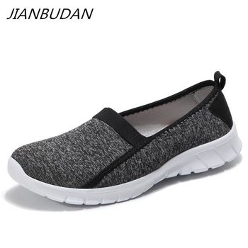 JIANBUDAN/ Lightweight sneakers summer women's outdoor crawling shoes Breathable flat casual shoes Female walking shoes 36-45 1