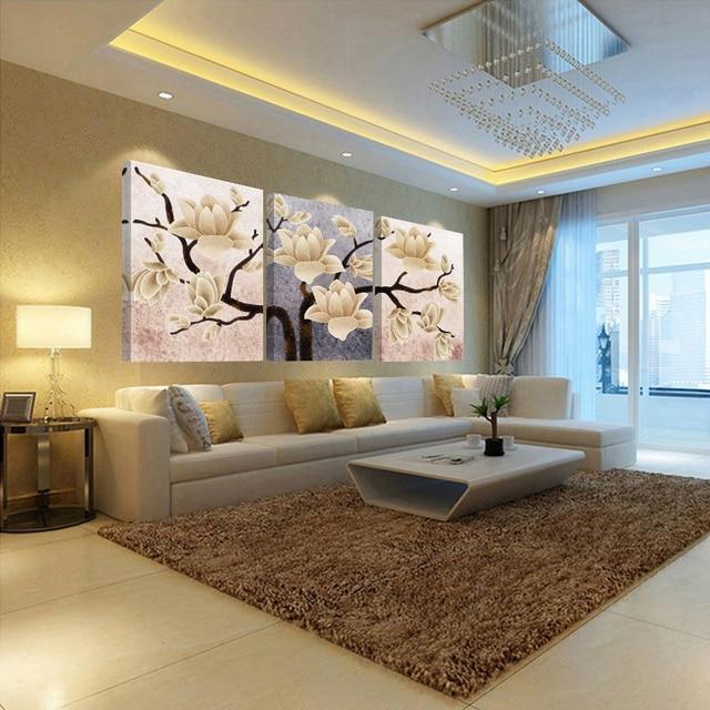 3 pannello astratta dipinti ad olio hd stampa immagine della parete ...