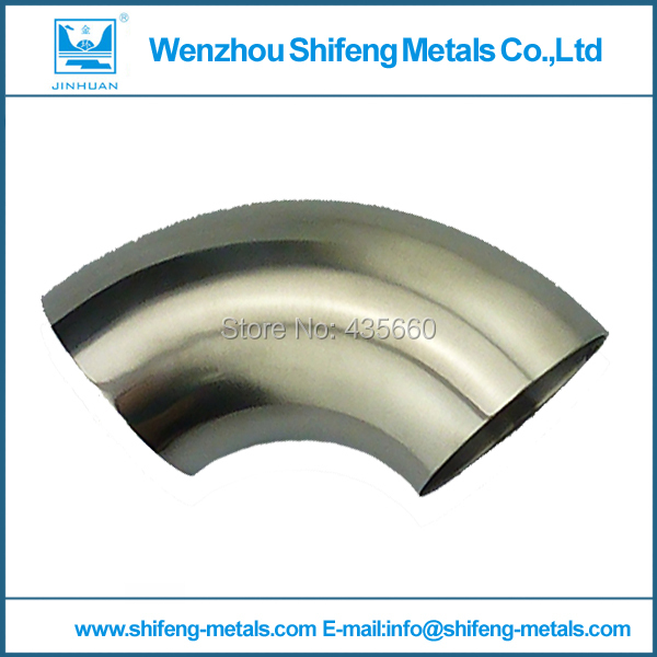 OD 76mm 3'' Sanitary Weld Elbow Pipe Fitting 90 Degree Stainless Steel 304