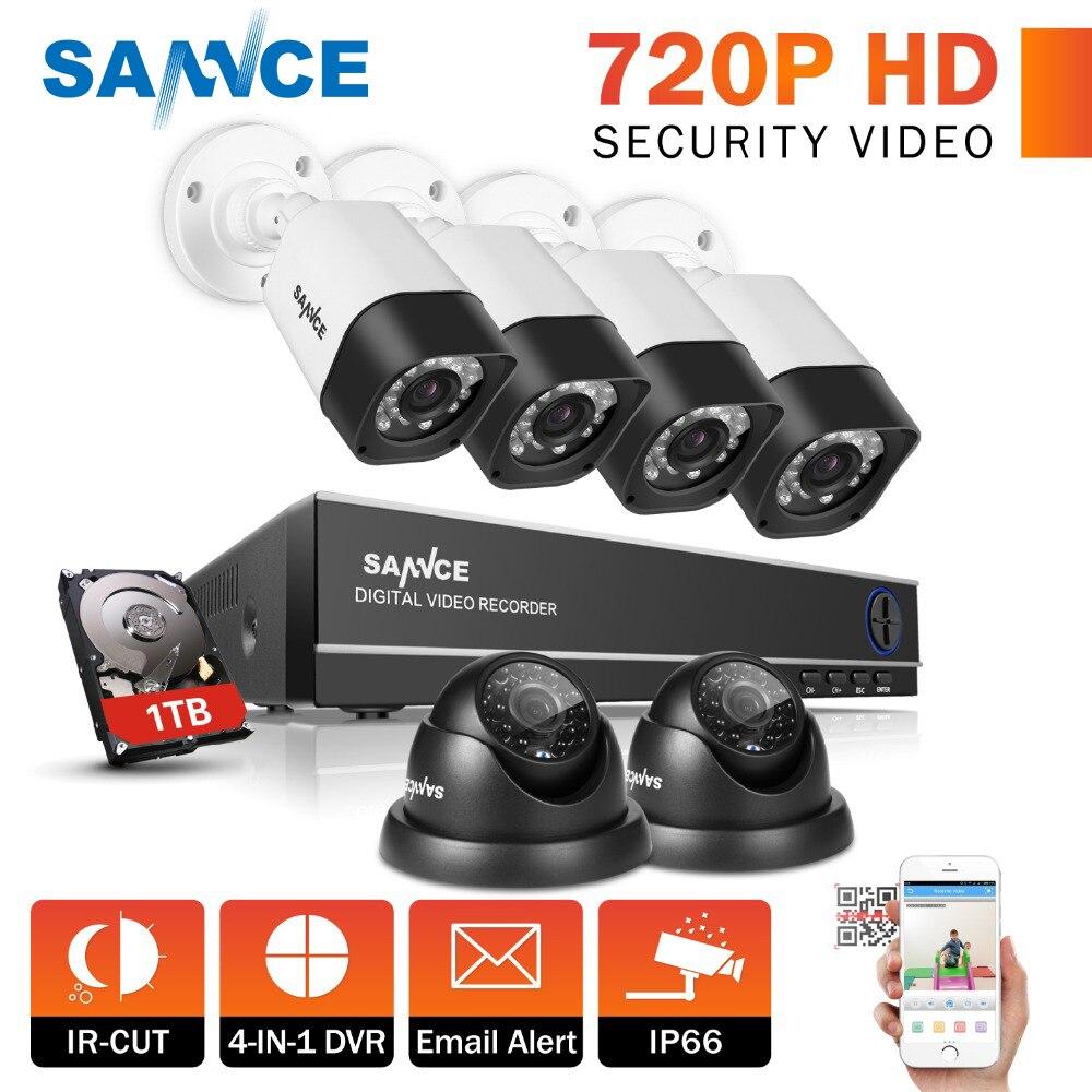 CAMERA SANNCE Pieno 8CH 720 P CCTV DVR Sistema di Sicurezza Kit 6 PCS 1.0mp IP66 CCTV Telecamere di Sicurezza P2P Servizio Cloud video di Sorveglianza KitCAMERA SANNCE Pieno 8CH 720 P CCTV DVR Sistema di Sicurezza Kit 6 PCS 1.0mp IP66 CCTV Telecamere di Sicurezza P2P Servizio Cloud video di Sorveglianza Kit