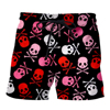 Skull Punk Rock Casual Shorts 3d 3