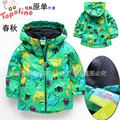 2015 Spiderman Kids Coat For Children Retail Topolino Detonation Boy Windbreaker Foreign Trade Children's Clothing Free Shipping