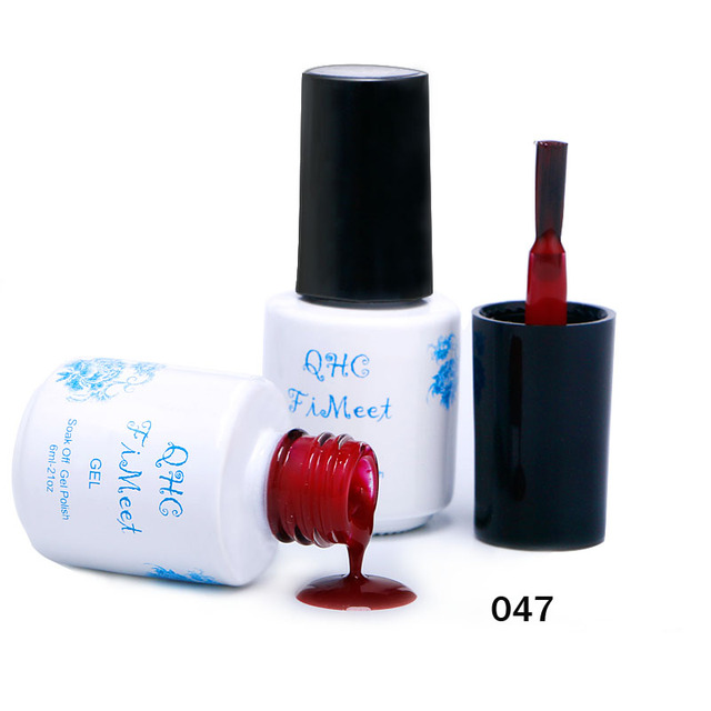 2017 Hot Sale QHC FiMeet Gel Nail Polish Long-Lasting Soak-off Nail Polish Gel Polish 6ml/Pcs 60 Colors Optional Free Shipping