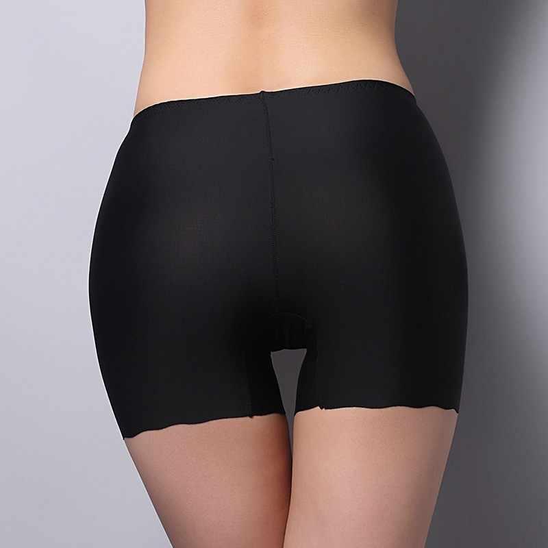 Women Safety Celana Pendek Es Sutra Celana Dalam Seamless High Waist Stretch Solid