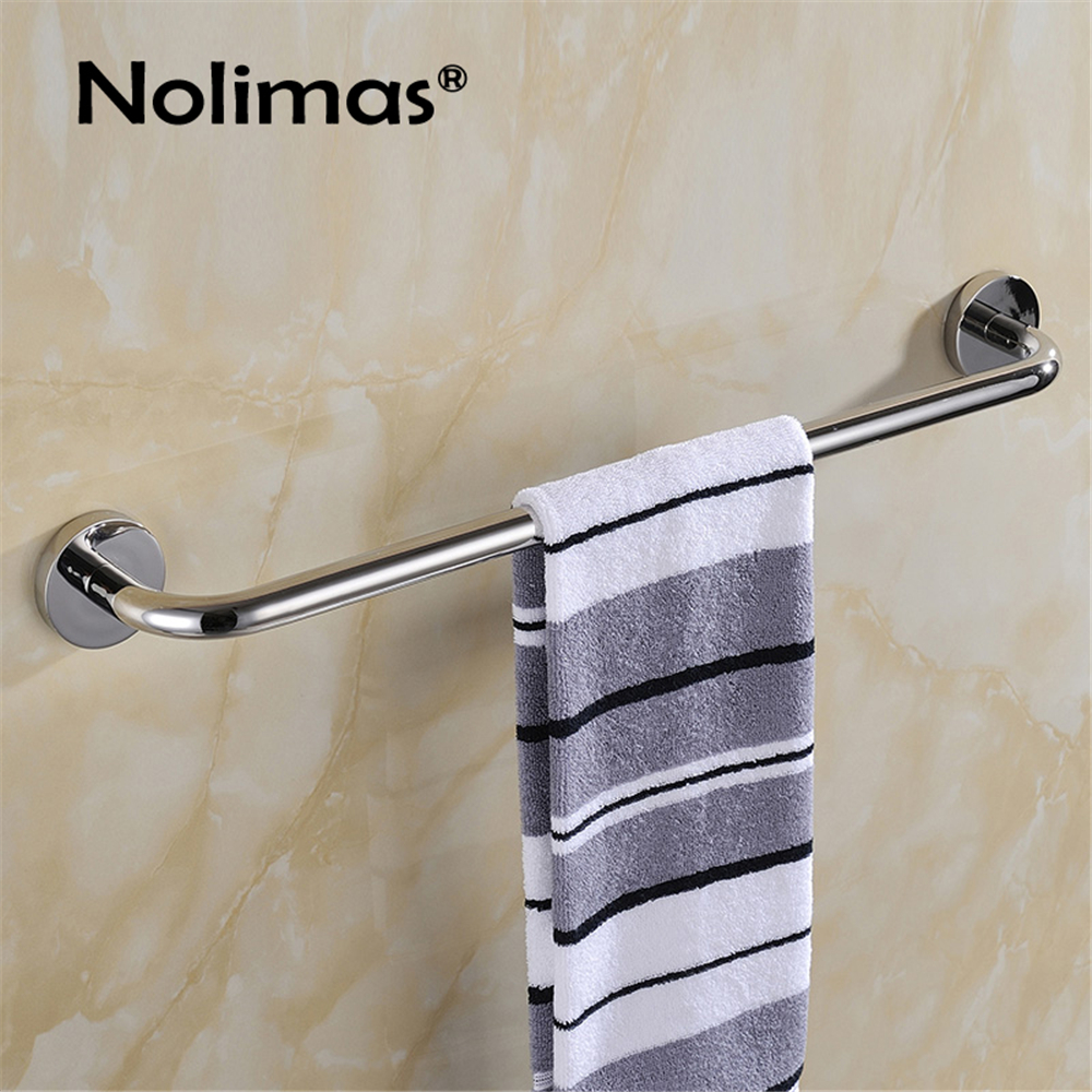 Free Shipping SUS 304 Stainless Steel SingleTowel Bar Square Towel Rack In The Bathroom Wall Mounted Towel Holder Q1003 304 stainless steel bathroom towel rack bar hangers more