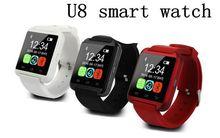 [Mit Kleinkasten] DHL FREI Bluetooth Smart Uhr U8 Uhr Inteligente für iPhone Android Telefon Gut wie Smartwatch U80 DZ09 GT08