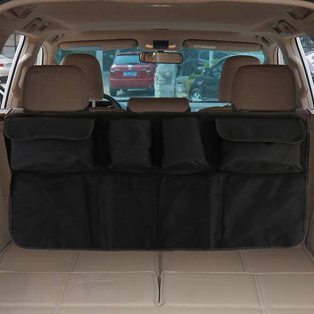 Auto Trunk Organizer Einstellbare Rücksitz Lagerung Tasche Net Hohe Kapazität Multi-verwenden Oxford Automobil Sitz Zurück Organisatoren Universal