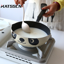 20/24/26cm Maifan Stone Frying Pan Panda Printed Durable Non-stick Smokeless Pot Wok Sauce Pans Induction Cooker General 245