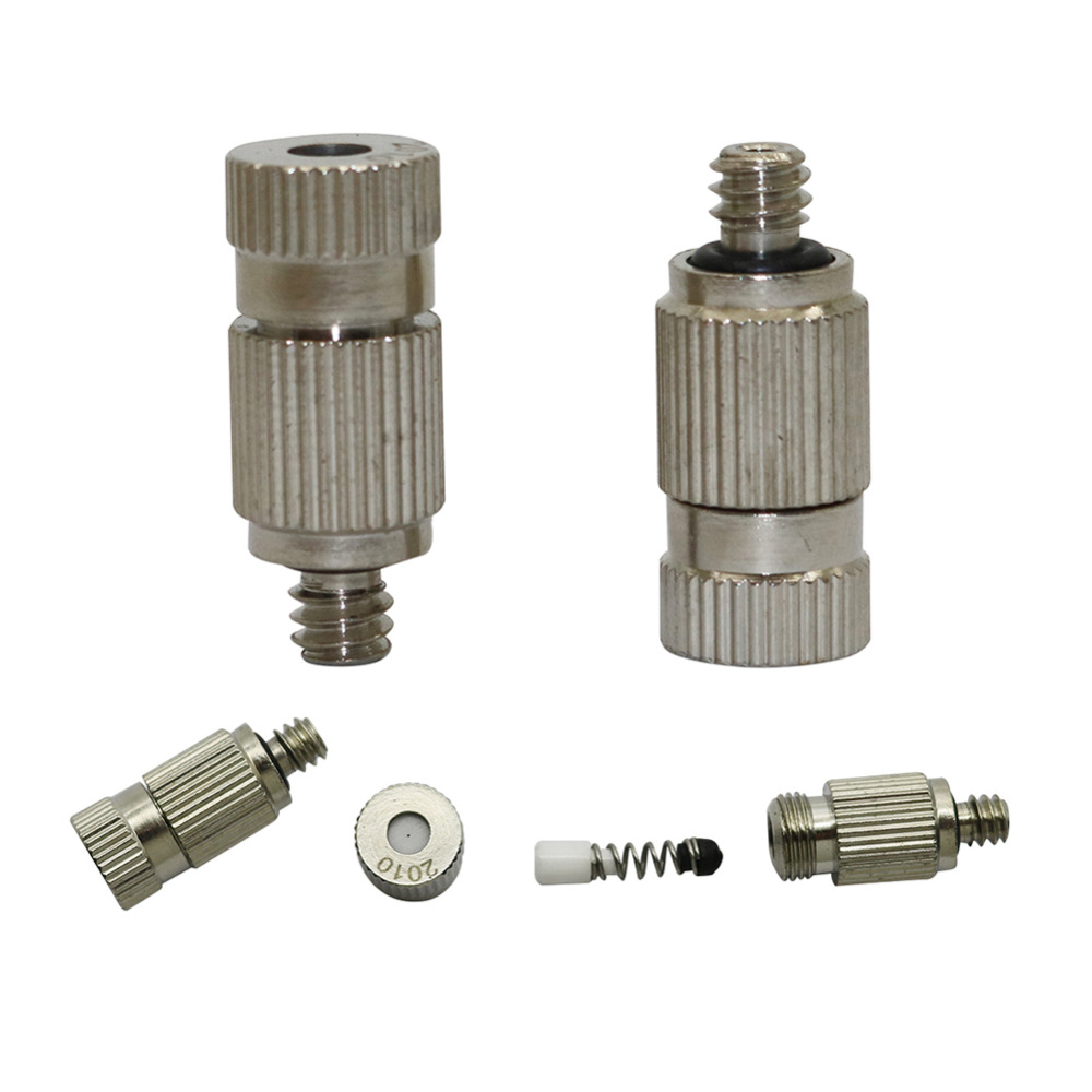 0.1~0.5mm High Pressure Mist Nozzle Greenhouse Sprinkler Irrigation Plant Cooling Systeem Stainless Steel Spray Nozzle 3 Pcs