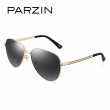PARZIN Brand Classic Pilot Polarized Sunglasses Alloy Frame Aviator Glasses For Driving Coating Mirror Sun Glasses With Box 8166