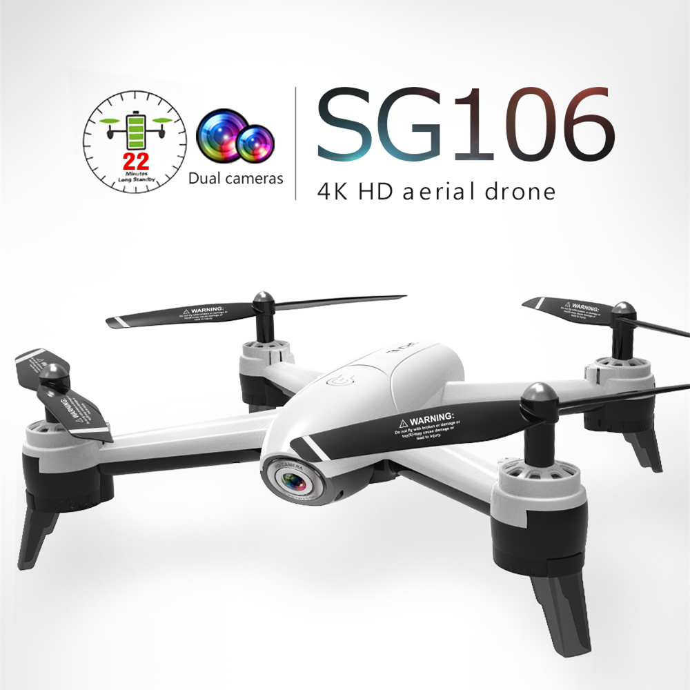 Remote Control Toys Reasonable Sg106 Rc Drone With 4k Wide Angle Camera Dron Optical Flow Positioning Quadcopter With 1080p Camera Selfie Drone Vs Xs816 E58 To Invigorate Health Effectively