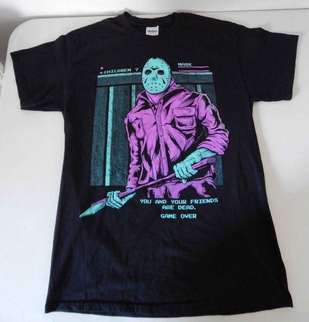 Friday the 13th Retro Jason Voorhees NES Game Schrik Rags Stijl Medium T-Shirt Gratis verzending Tops t-shirt Fashion Klassieke
