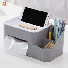 Paper towel box creative living room coffee table remote control storage plastic desktop finishing paper napkin